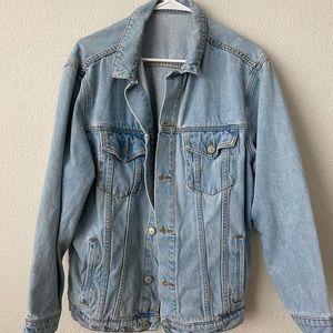 Brandy Melville Oversized Medium Wash Denim Jacket